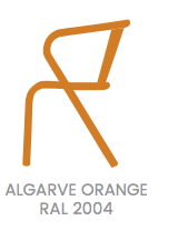 arcalo chair orange