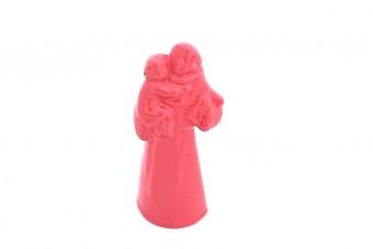 Small Saint Anthony ceramic statue_pink