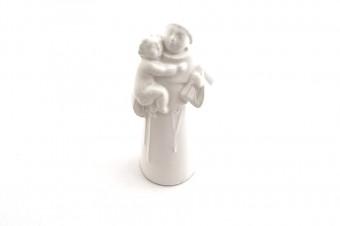 Small Saint Anthony ceramic statue_white