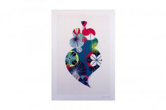 Viana heart drawing print