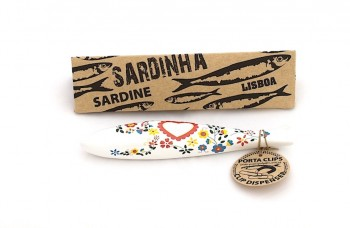 namorados ceramic sardine with box