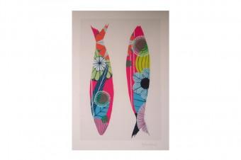sardine drawing print