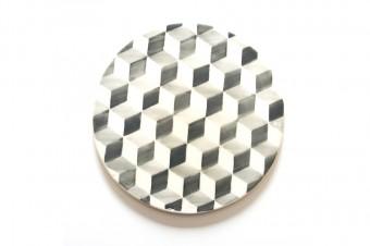 grey tiles pattern table set
