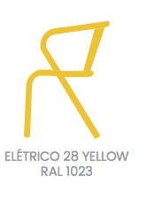 arcalo chair yellow