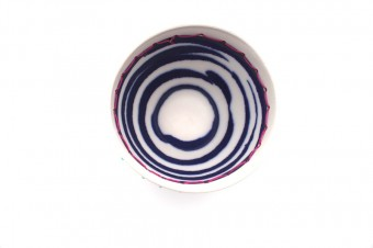 Anna Westerlund dark blue bowl inside