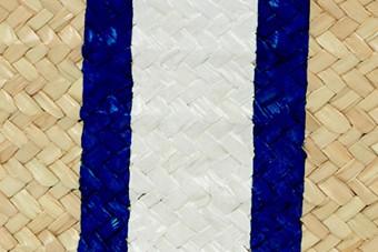 blue&white monogram clutch