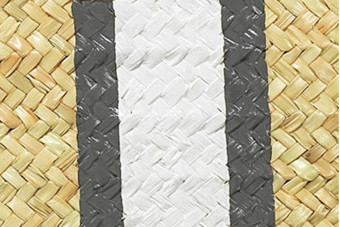 grey&white monogram clutch