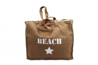 burlap bag beach
