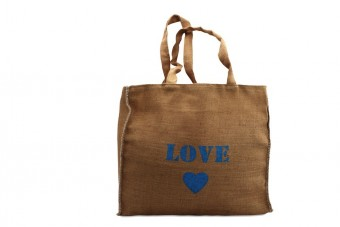 burlap bag love