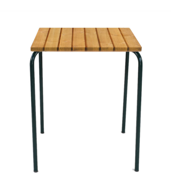 arcalo square table 60cm with pine slats