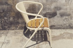 arcalo chair with pine slats seat creme