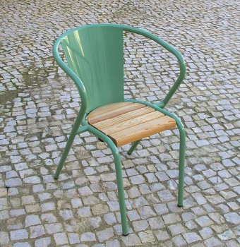 arcalo lisbon chair pale green pine slats seat