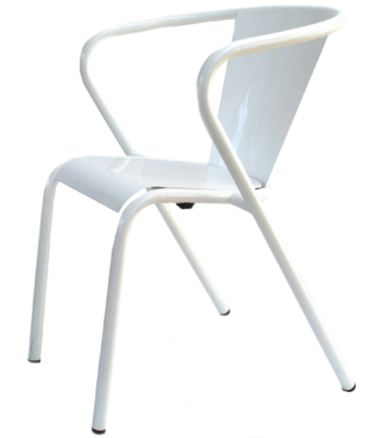 white arcalo lisbon chair